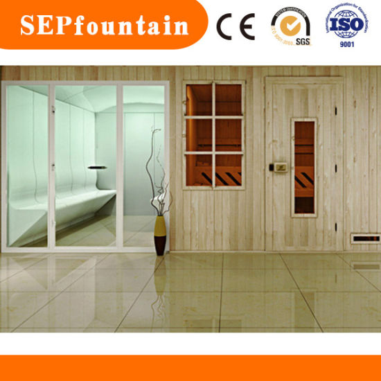China 2-6 Person Wooden Culture Wet Sauna Shower Steam Room - China ...
