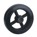 Rubber Wheels with Cast Iron Center