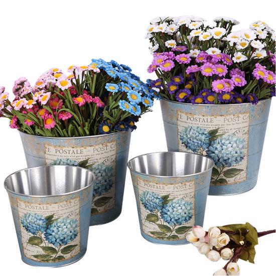Mini Metal Bucket Tinplate Candy Box Souvenirs Gift Pails Flower Pot
