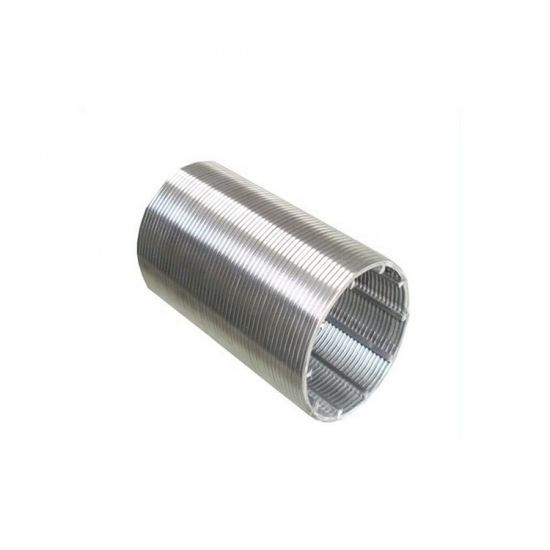 Wedge V Slotted Wire Stainless Steel 316 Sieve Cylinder Johnson Screen Filter