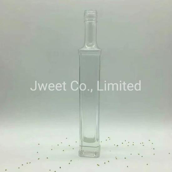 Factory Custom Rectangular Super Flint Glass 700ml Brandy Glass Bottle