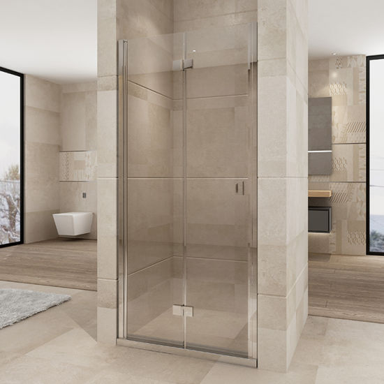 Widely Opening Distance Hinge Shower Door for Bathroom with CE Approved