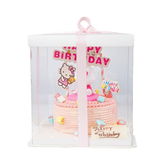 Wholesale Custom Luxury Pet Clear Cake Foldable Plastic Box
