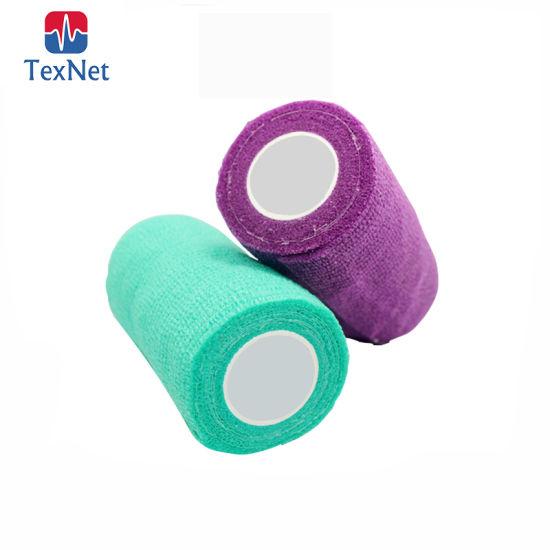 China Colored Elastic Bandage Nonwoven Elastic Self Adhesive Adherent Wrap Bandage China Medicare Adhesive Bandage