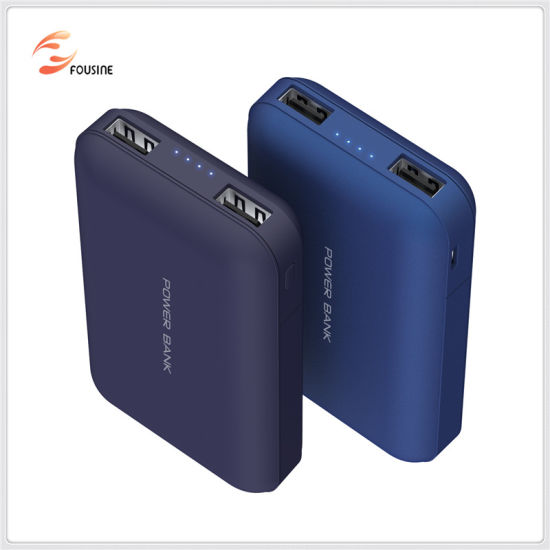 2 USB Output Smart High Capacity 10000mAh Power Bank Compatible with Smart Devices