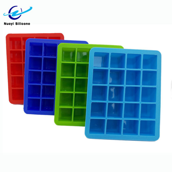 Food Grade Ice Mold, 15 Cavity Square Silicone Ice Cube Tray for Whisky