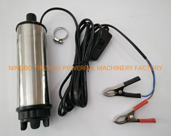 Diesel Fuel Transfer Pump-DC 12V/24V Diesel Fuel Water Oil Transfer Refueling Submersible Pump pictures & photos