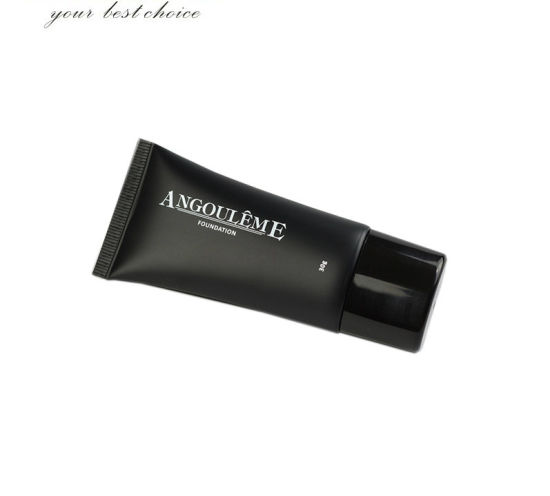 30ml Black Plastic Cosmetic Squeeze Foundation Packaging Tube
