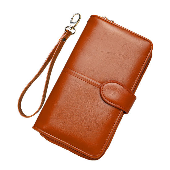 Woman Long Wallet High Quality Fashion Lady Wallet Girl Purse Wide Elegant PU Leather Wallet pictures & photos