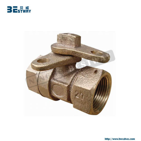 Bronze Material Ball Valve with Locking for Water Meter (BW-L12)