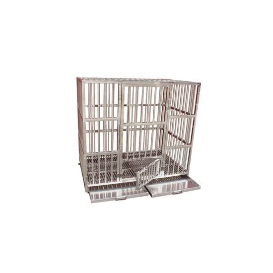 Veterinary Hospital Stainless Steel Square Tube Cat Cage pictures & photos