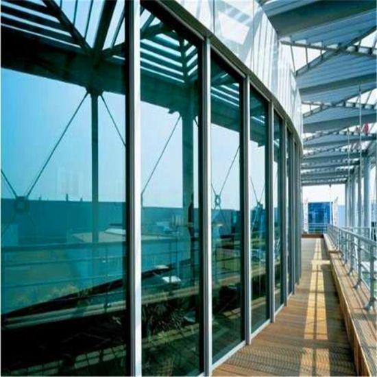 Light Blue Reflective Tempered Glass Internal Double Glazing Glass