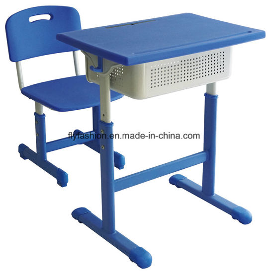 Durable Multi-Function Student Desk with Adjustable Plastic Chair Sf-94s