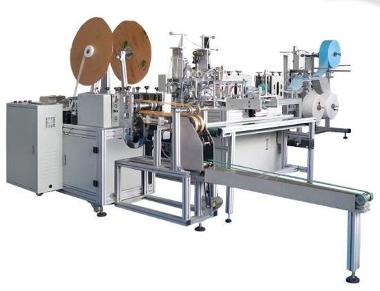 3 Ply Face Mask One Drag Two Flat Making Machine