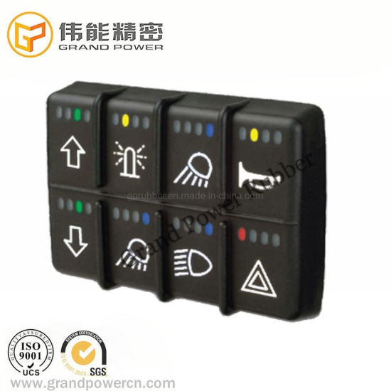 Customized Printing Backlight Digger Control Button Panel System Keypad Silicone Keypad