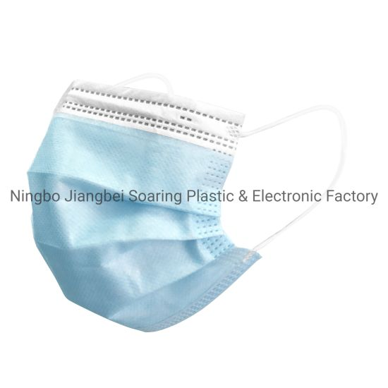 Face Mask with Design Customisable Mask Face Protection 3 Ply Disposable Nonwoven Mask with Ear-Loop Widely Used