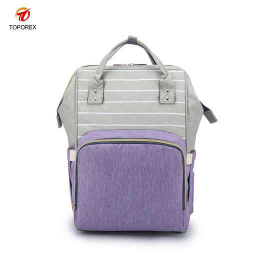 Wholesale Mummy Baby Diaper Nappy Bag Leisure Maternity Backpack Bag