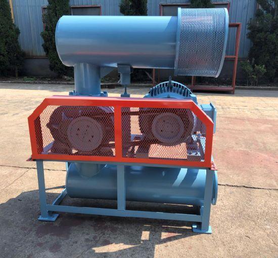 Dn200 850-1800rpm Iron Casting Three Lobe Roots Blower 15-132kw, 80kpa Air Cooling Blower
