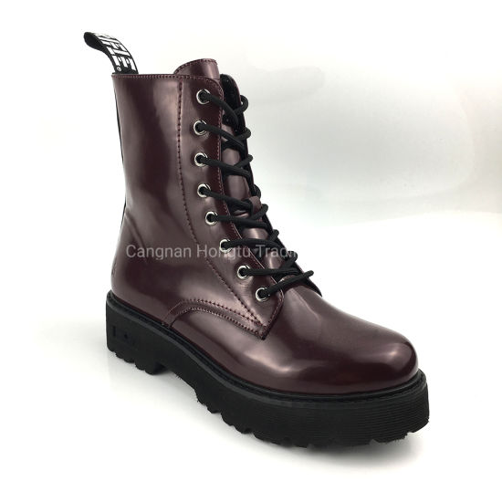 Italy Fashion Ladies Lace up Winter Women Ankle Boot