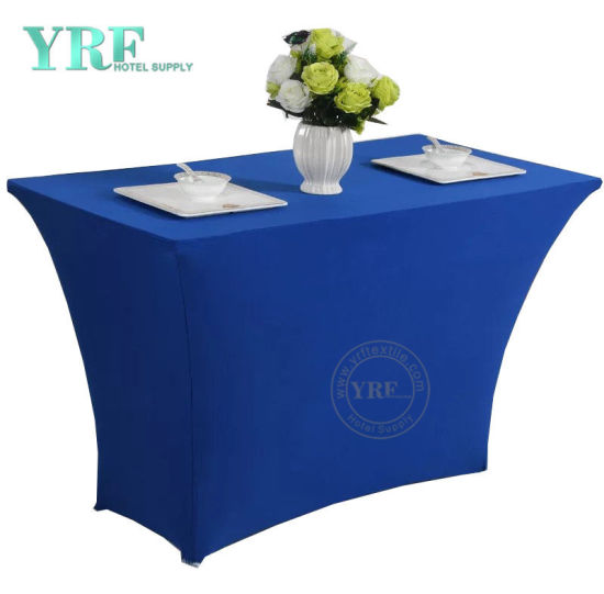 Factory Wholesale Embroidery Lace Fabric High Bar Cocktail Table Cloth for Wedding Tablecloth pictures & photos