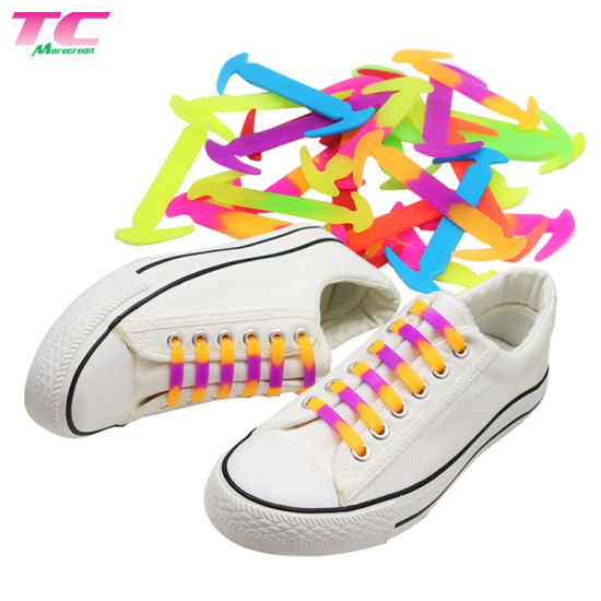 New Easy No Tie Elastic Silicone Shoe Laces For Adults /& Kids-Multiple Colors