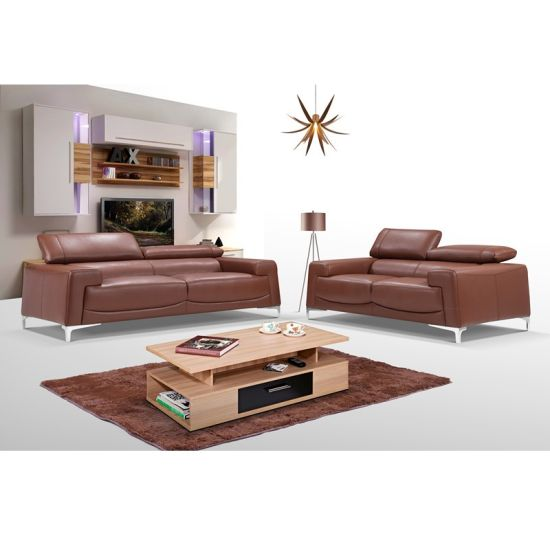 New Italia Simple Fabric Goose Down Living Room Sectional ...