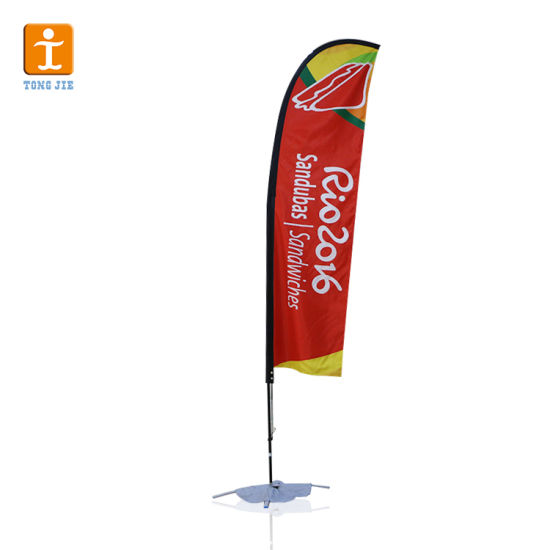 High Quality Wholesale Advertising Beach Flag Double Sided Flying Flags
