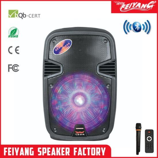 12'' Cheaper Price Temeisheng Feiyang Battery Speaker, Portable Trolley Speaker, Karaoke Trolley Speaker, Wireless Connection Speaker F16-8 $23
