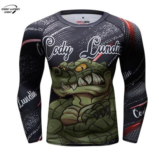 Cody Lundin Men Long Sleeve Quick Dry High Neck Quarter Zip Breathable Jacquard Sport Tshirts
