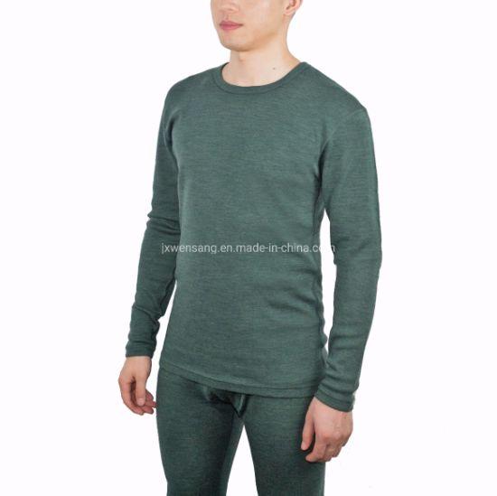 Mens 100/% Merino Wool Thermal Underwear Long John Set Base Layer Top and Bottom Warm Winter