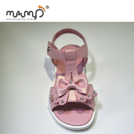 73a3c0599 China Custom Shoes Child Sandal for Girls Fancy Leather Kids Sandals ...