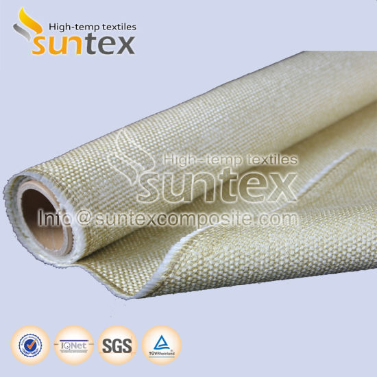 Fiberglass Thermal Insulation High Temperature Fiberglass Cloth Welding  Protection Fire Curtain Vermiculite Coated Fiberglass Fabrics