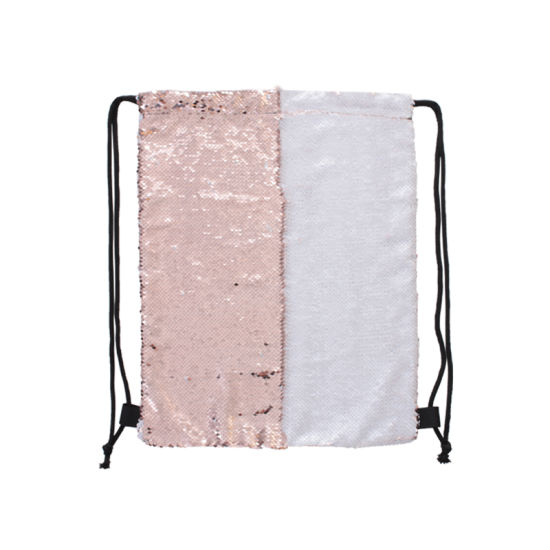 High Quality Champagne Glitter Reversible Sequin Bags Sublimation Bag