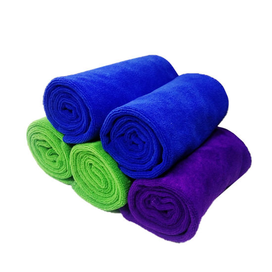 Plain Dyed Microfiber Towel with Fabric Material of Polyester and Polyamide