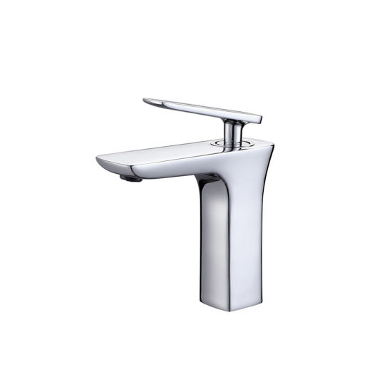 New Design Single Handle Jade Brass Basin Mixer pictures & photos