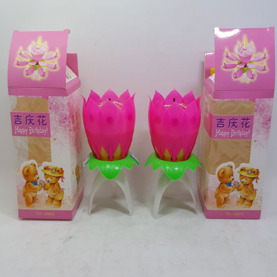 Lotus Shape Flower Birthday Candle