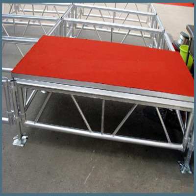 Rk Portable Aluminum Stage with Red Platform for Performance Event pictures & photos