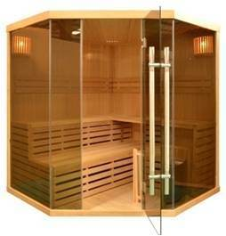 Infrared Hemlock Wood Sauna Room Function Dry for 5 People Using