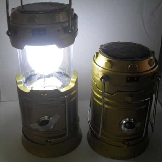 LEDs Rechargeable Camping Light Collapsible Solar Camping Lantern Tent Lights pictures & photos