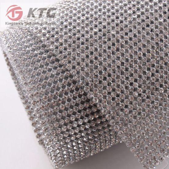Crystal Hot Fix Self Adhesive Rhinestone Net Mesh
