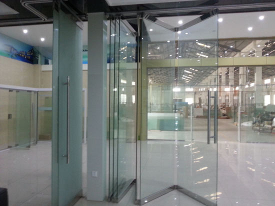 China Movable Frameless Glass Wall For Office Shopping