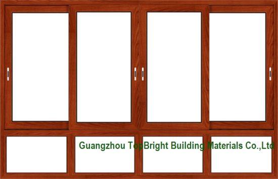 China Wood-Clad Aluminum Sliding Windows Frames Designs - China ...