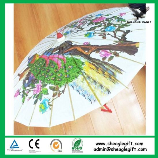 Promotional Logo Customized Paper Umbrella pictures & photos