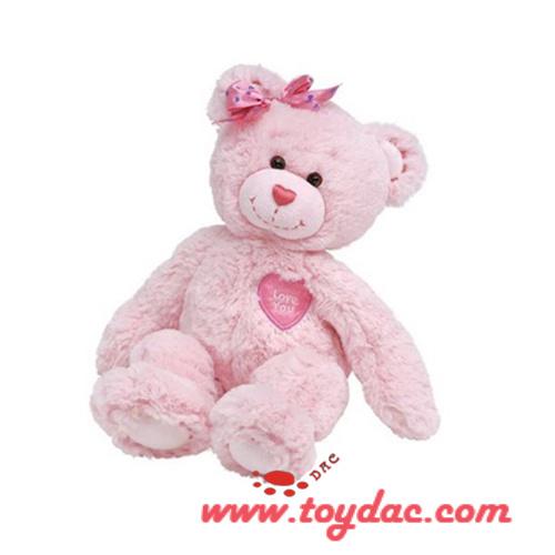 Plush Pink Teddy Bear Toy