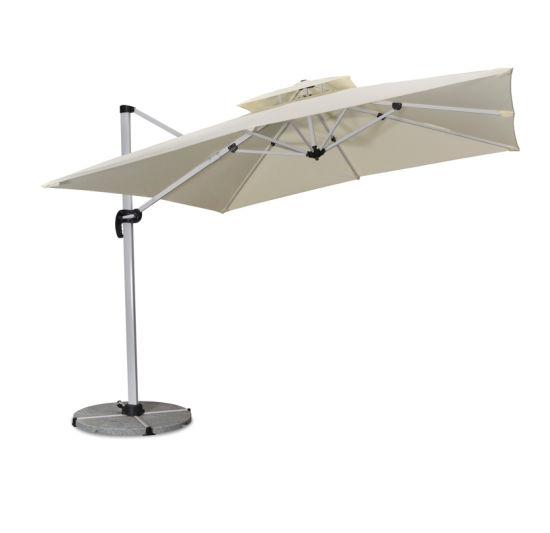 Hotel Swimming Pool Cantilever Auminum Outdoor Square Umbrellas - Dawn
