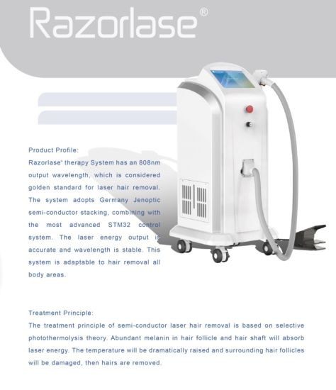 Razorlase Sapphire Contact Diode Laser 808nm Laser Hair Removal Machine pictures & photos