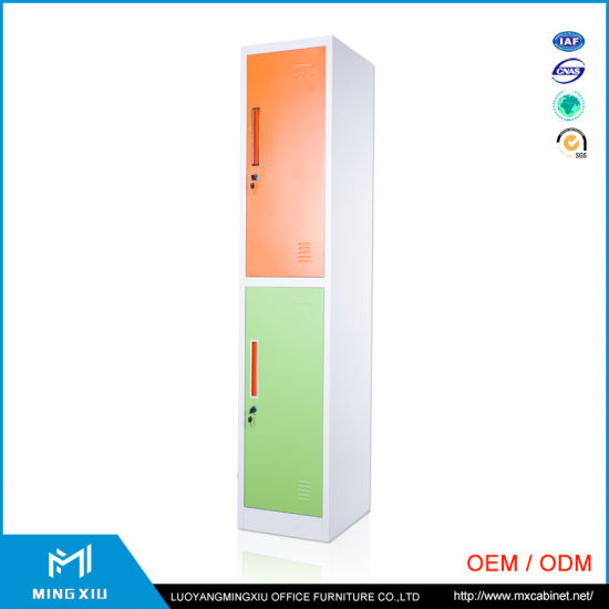 Mingxiu Clothes Storage Metal Cabinet Steel Locker/2 Door Colorful Full High Clothes Cabinet Metal Locker pictures & photos