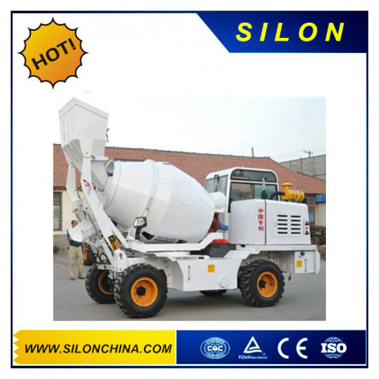 Silon Mini Self Loading Concrete Mixer Truck with Front Loading Shovel (SL1.7R)