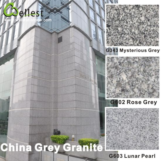 Competitive G602 G603 G655 G633 Spray White Juparana Grey Granite with Polished Flamed Bush Hammered Finish for Floor and Wall Cladding pictures & photos