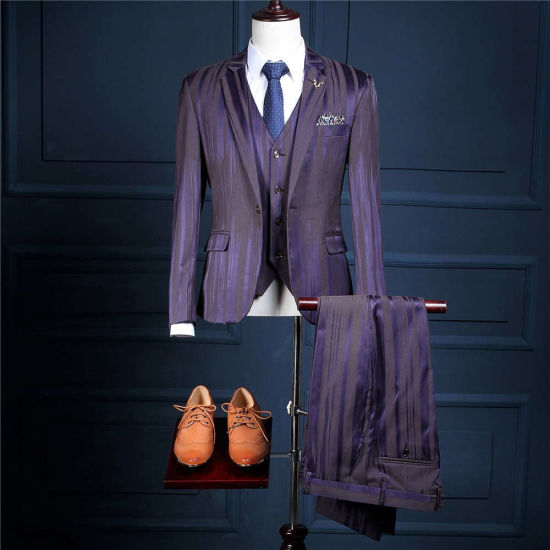 Vestido Boda Terno PARA Casamento Slim Fit High Quality Wool Blend Customized Groom Wedding Tuxedo Costume 3 Pieces Marie Ms08